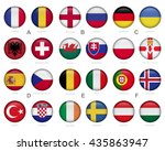 set of soccer   football  ... | Shutterstock .eps vector #435863947
