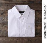 formal white smart shirt for... | Shutterstock . vector #435865027