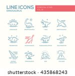set of modern vector plain line ... | Shutterstock .eps vector #435868243