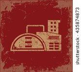 industry design on red... | Shutterstock .eps vector #435874873