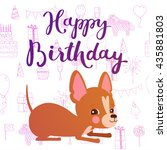 happy birthday   hand drawn... | Shutterstock .eps vector #435881803