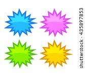 bursting speech star bubbles... | Shutterstock .eps vector #435897853
