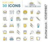 set vector line icons in flat... | Shutterstock .eps vector #435899887