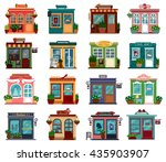 shops or markets view with... | Shutterstock .eps vector #435903907