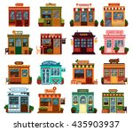 collection of exterior street... | Shutterstock .eps vector #435903937
