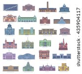 collection of landmarks and... | Shutterstock .eps vector #435904117