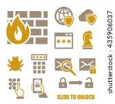 firewall icon set | Shutterstock .eps vector #435906037