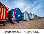 brighton beach bathing boxes ...   Shutterstock . vector #435907837