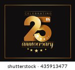 25th years anniversary... | Shutterstock .eps vector #435913477