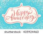 happy anniversary. | Shutterstock .eps vector #435924463