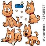 vector illustration of cartoon... | Shutterstock .eps vector #435925537