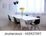 beautiful interior with table... | Shutterstock . vector #435927397