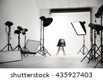 empty photo studio with...