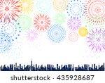 firework over the city | Shutterstock .eps vector #435928687
