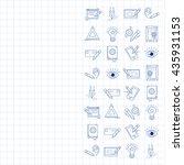 vector icons set creative...