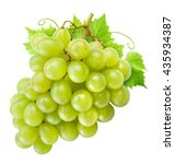 fresh green grapes with leaves. ... | Shutterstock . vector #435934387