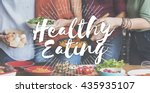 healthy eating healthy food... | Shutterstock . vector #435935107
