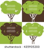 cards with stylized trees and... | Shutterstock .eps vector #435935203