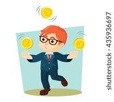 boy juggling coins | Shutterstock . vector #435936697