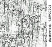 imprints of flowers   seamless... | Shutterstock . vector #435937303