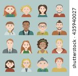 a set of sixteen vector colored ... | Shutterstock .eps vector #435940027