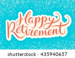 happy retirement banner. | Shutterstock .eps vector #435940657