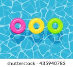 top view of colorful swim rings ... | Shutterstock .eps vector #435940783