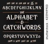 vintage alphabet vector font.... | Shutterstock .eps vector #435949903