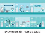 info graphic of medical... | Shutterstock .eps vector #435961333