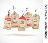 vector stickers  price tag ... | Shutterstock .eps vector #435961423