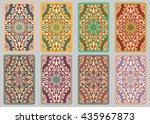 collection retro cards. ethnic... | Shutterstock . vector #435967873