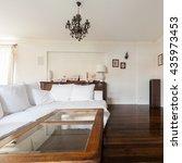 elegant luxury living room with ... | Shutterstock . vector #435973453