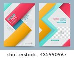 colourful annual report... | Shutterstock .eps vector #435990967