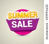 vector summer sale sticker .... | Shutterstock .eps vector #435991633
