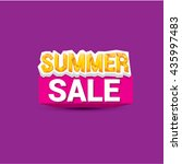 vector summer sale sticker or... | Shutterstock .eps vector #435997483
