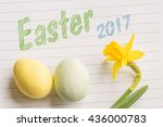 easter 2017 greeting with... | Shutterstock . vector #436000783