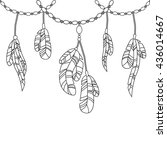 hand drawing feathers and...   Shutterstock .eps vector #436014667