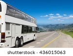 tourist bus on the way to... | Shutterstock . vector #436015063