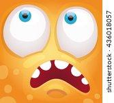 cartoon monster face | Shutterstock .eps vector #436018057