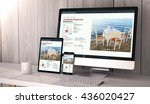digital generated devices on...   Shutterstock . vector #436020427