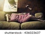 Tired Businesswoman Sleeping O...