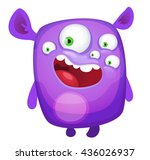 cartoon cute monster | Shutterstock .eps vector #436026937