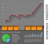 infographics page template.... | Shutterstock .eps vector #436032253