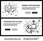 vector concept  a set of... | Shutterstock .eps vector #436032487