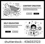 vector concept  a set of... | Shutterstock .eps vector #436032523