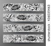 cartoon line art vector hand... | Shutterstock .eps vector #436035463