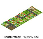 isometric perspective view of a ... | Shutterstock .eps vector #436042423
