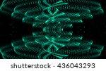 abstract futuristic bright... | Shutterstock . vector #436043293
