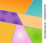 mock up of different... | Shutterstock .eps vector #436044253