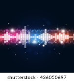 abstract music equalizer... | Shutterstock . vector #436050697